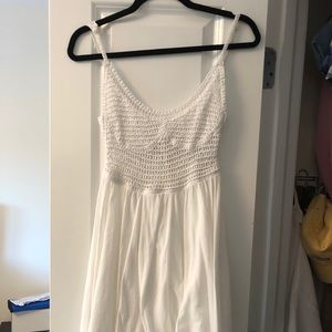 White mini net dress